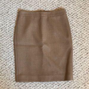 Jcrew No. 2 double serge wool camel pencil skirt